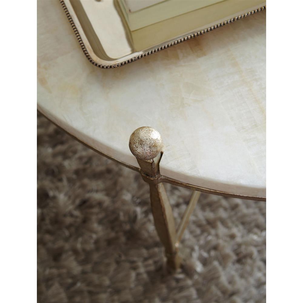 Flanagan Regency Champagne Silver Stone Knob Coffee Table