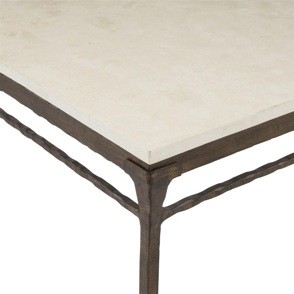 Forba rustic lodge carved stone wood coffee table kathy for Stone and wood coffee table