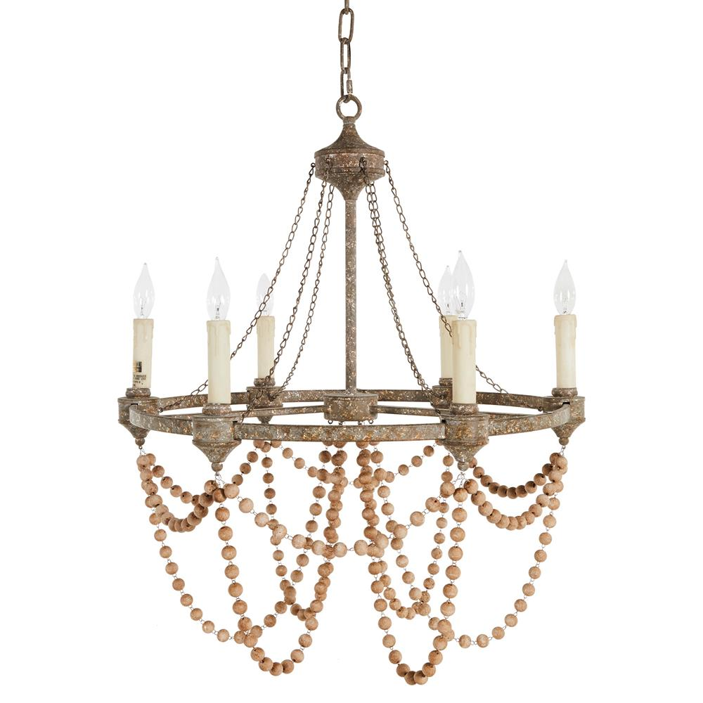 Auvergne french country rustic iron white bead chandelier kathy view full size aloadofball Image collections