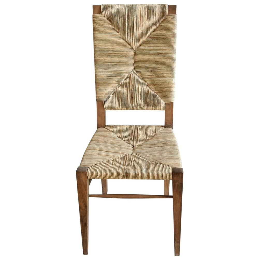 Beach Dining Chairs ~ Nantucket coastal beach seagrass teak dining chair kathy