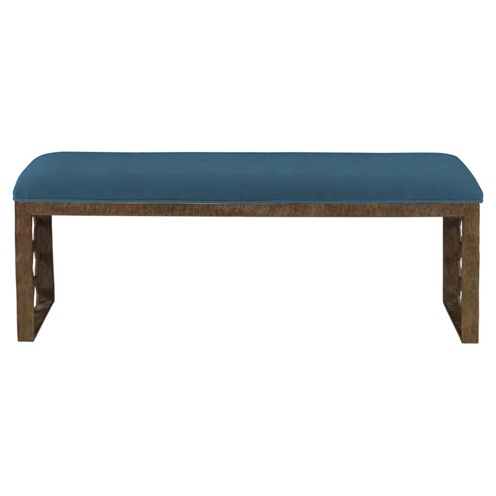 Mr Brown Angelina Modern Gold Hexagon Bench Prussian