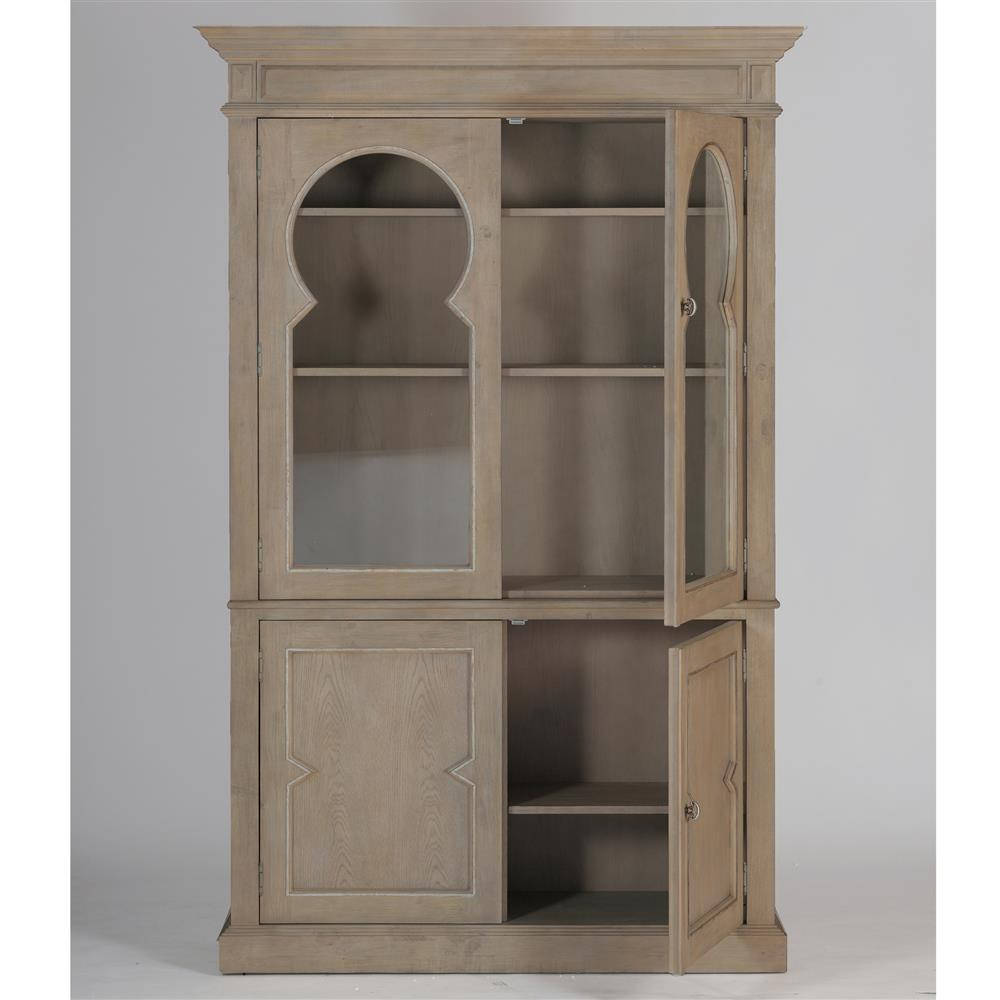 Cormier French Country Keystone Glass Door Cabinet
