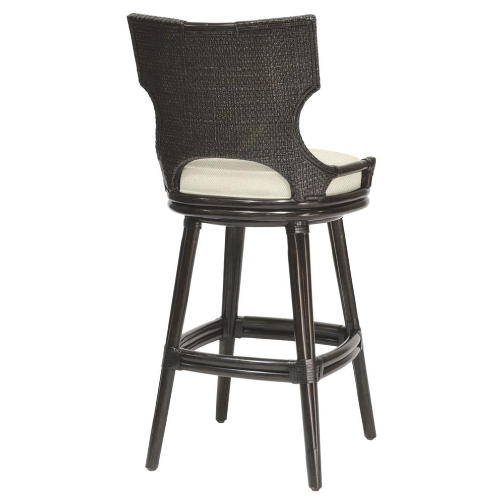 Palecek Caprice Global Espresso Rattan Twill Swivel