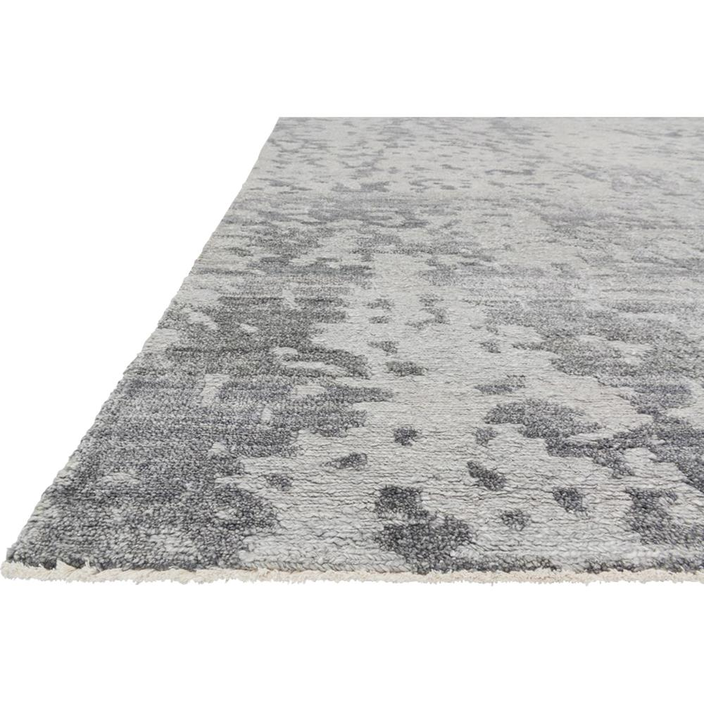 Olvin Hollywood Antique Grey Distressed Pattern Rug 5 6x8 6