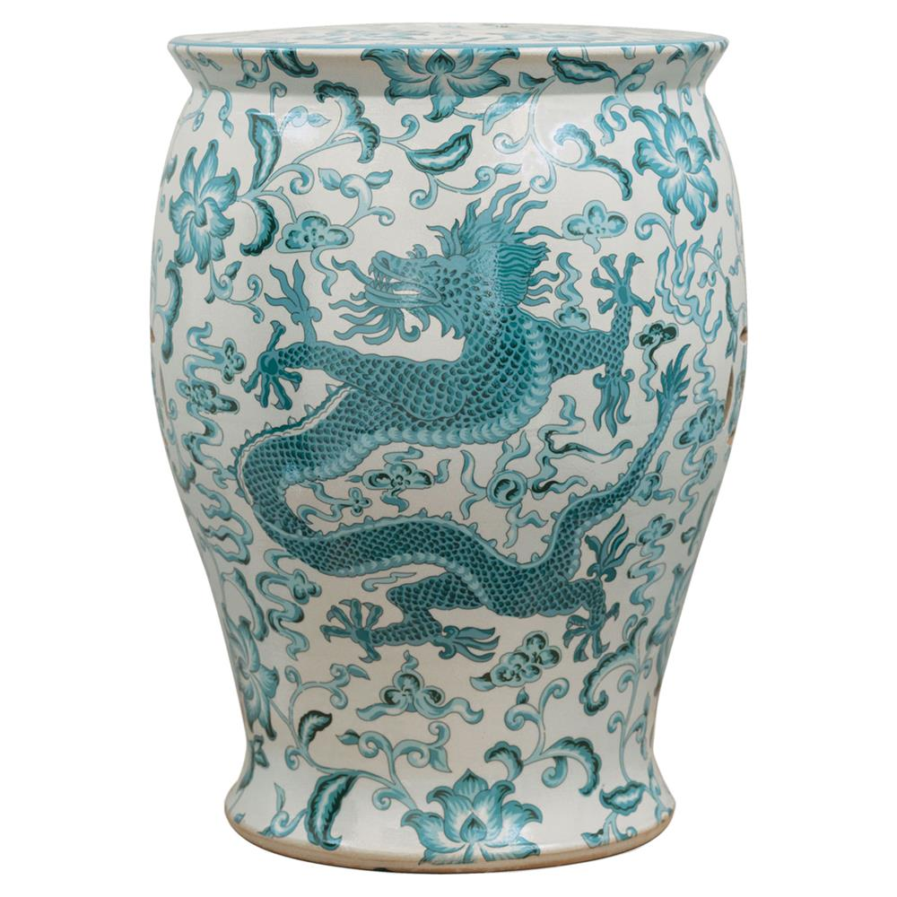 Lydia Global Bazaar Turquoise Dragon Motif Porcelain