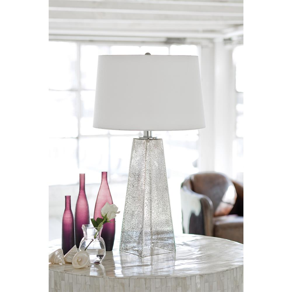 Lely Coastal Beach Seeded Glass Table Lamp Kathy Kuo Home