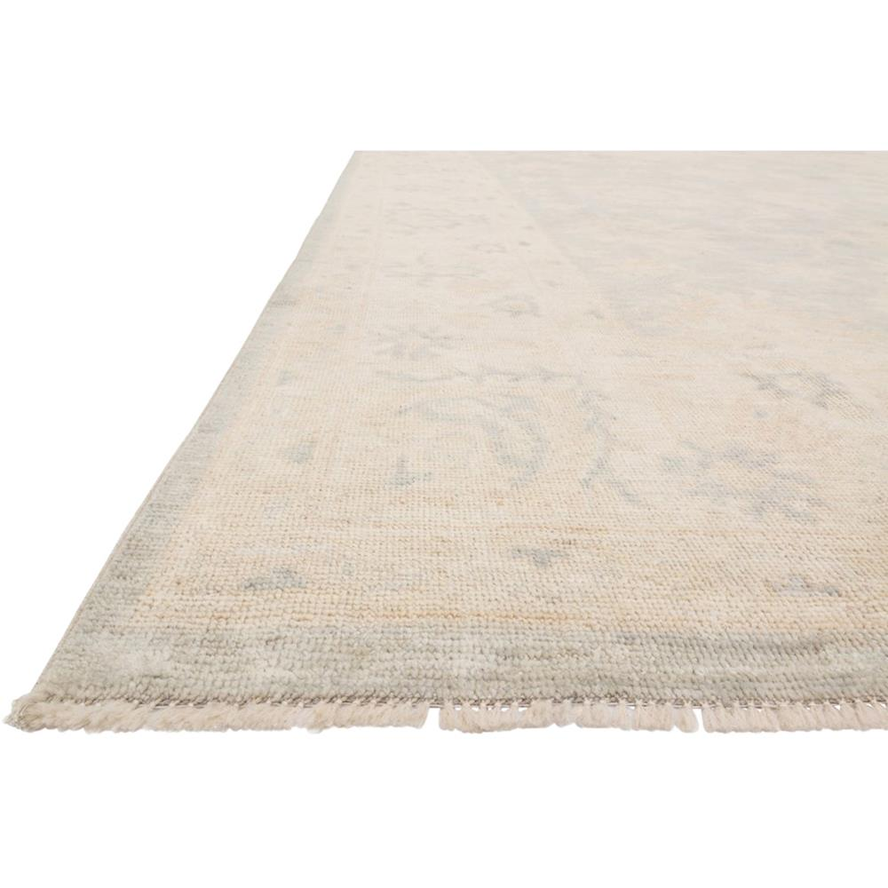 Lael French Antique Wash Blue Stone Flora Wool Rug