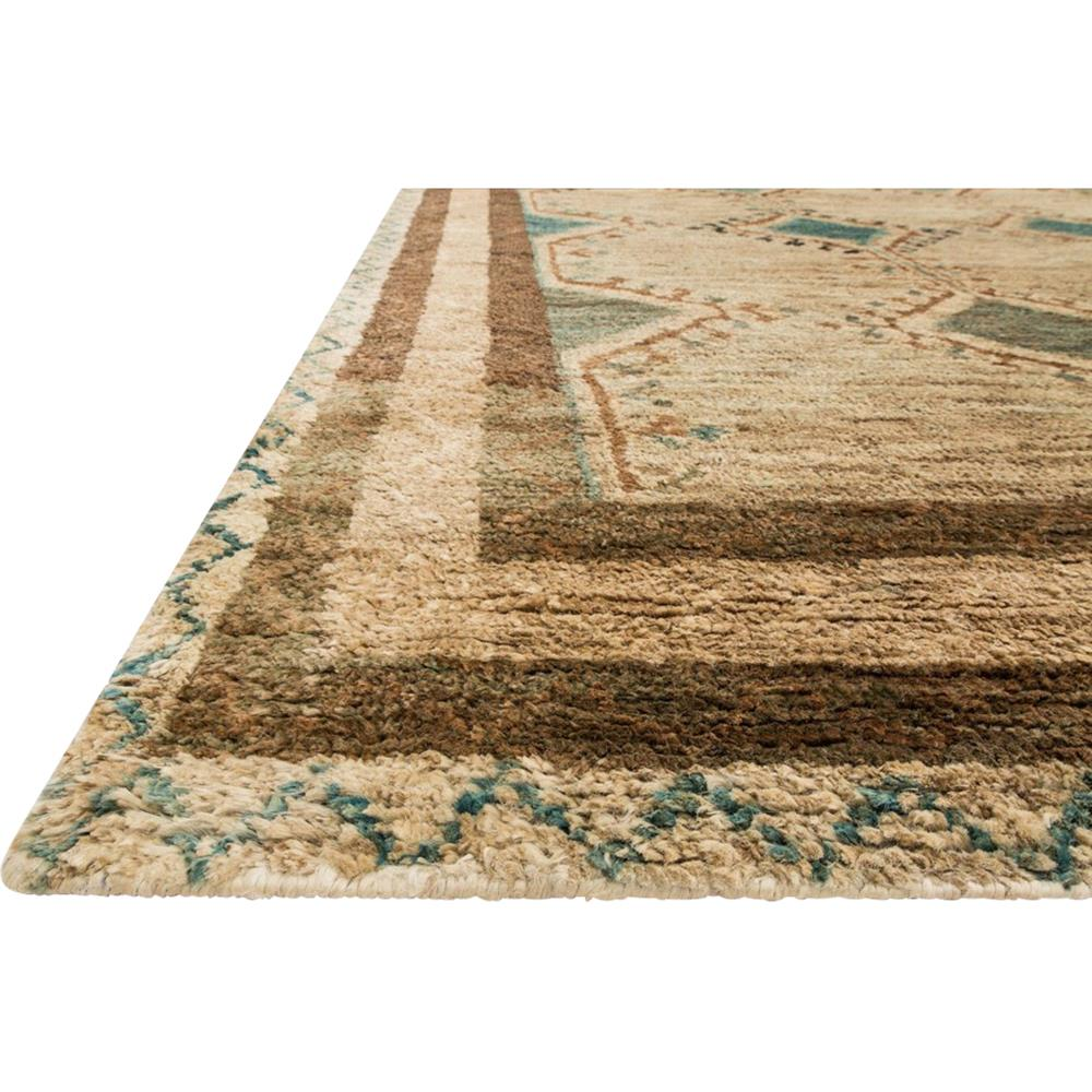 Amara Global Teal Blue Native Beige Jute Rug - 4x6