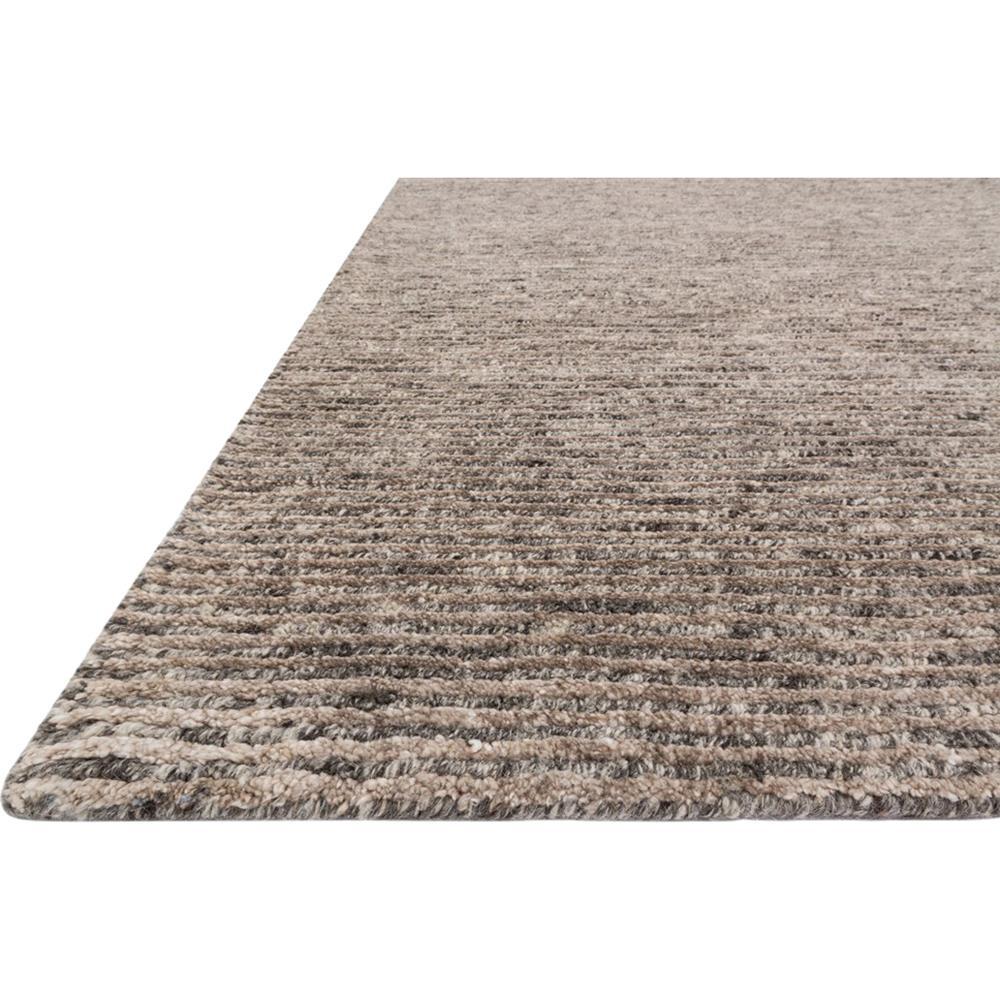 Flint Modern Classic Grey Mocha Stria Wool Rug 5 6x8 6