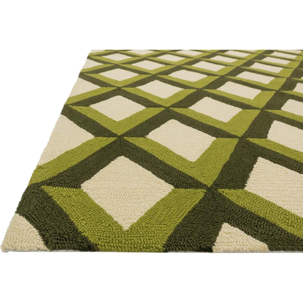 sheela modern forest green trellis outdoor rug