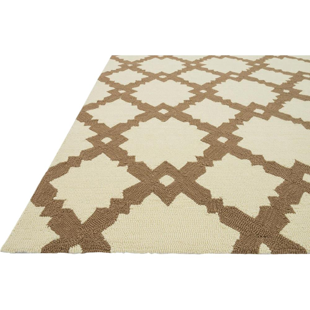 Veena Modern Classic Ivory Brown Tile Outdoor Rug 5x7 6