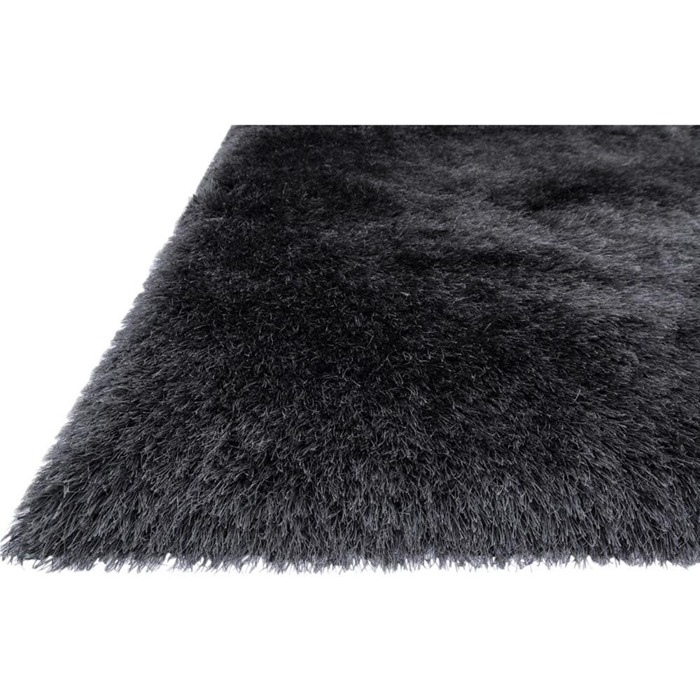 Sona Hollywood Modern Sleek Charcoal Grey Shag Rug 3 39 6x5
