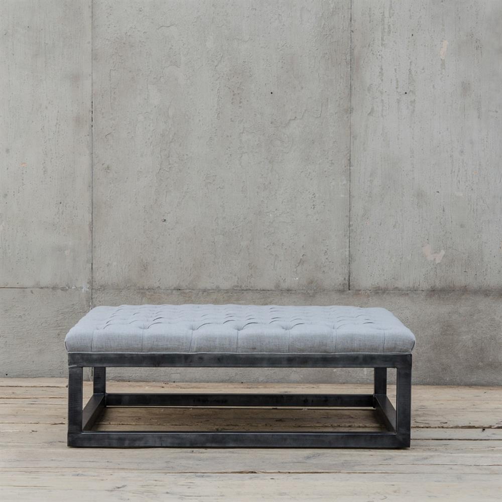 Industrial Coffee Table Ottoman