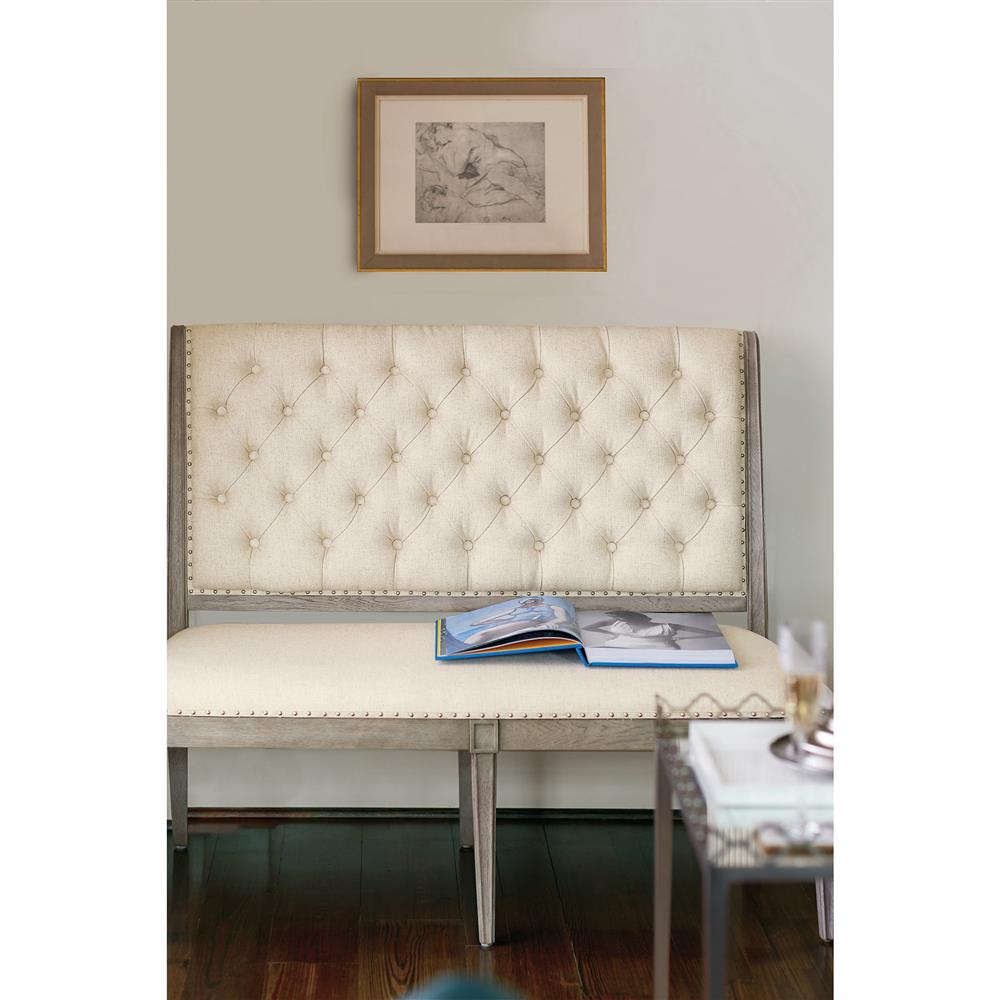 Michaela French Country Wood Upholstered Button Tufted