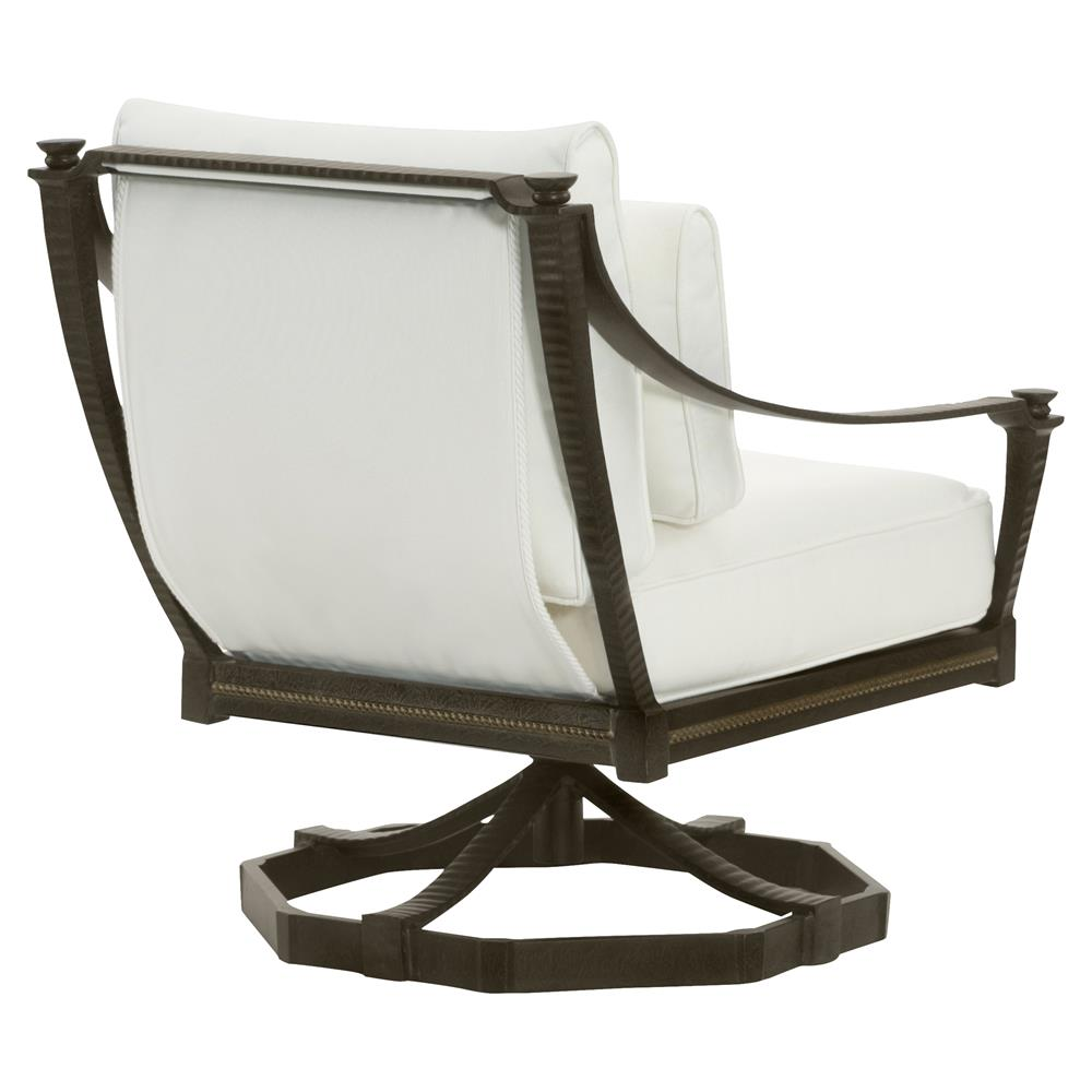Jane Modern French White Swivel Rocker Metal Outdoor Lounge Chair