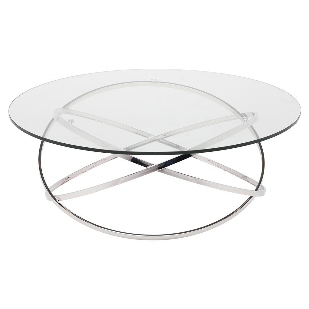 Savannah Modern Classic Steel Glass Coffee Table Kathy Kuo Home