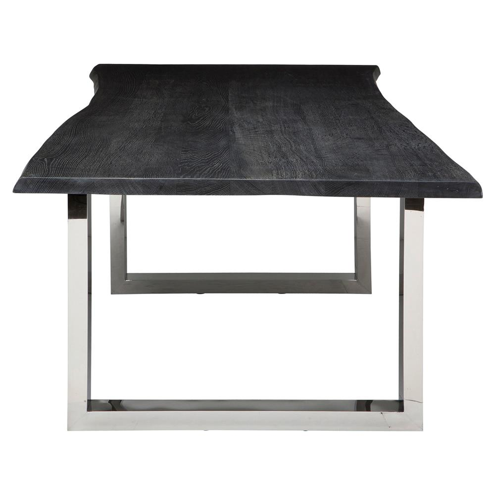 Zinnia Industrial Grey Oak Stainless Steel Dining Table  : product165152 from www.kathykuohome.com size 1000 x 1000 jpeg 62kB