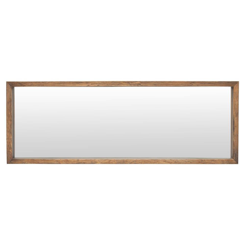 Casper Rustic Honey Oak Framed Horizontal Wall Mirror 52