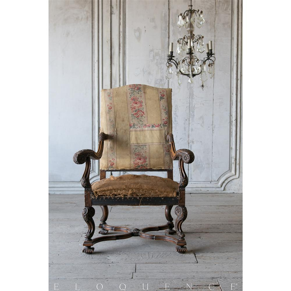 Antique louis xiv chair - View Full Size