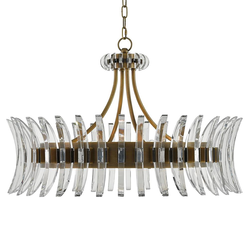Lumley modern optic crystal round brass chandelier kathy for Lights company