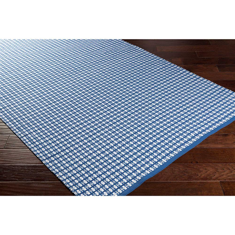Plaid Rug: Grant Modern Classic Blue Plaid Hand Woven Outdoor Rug