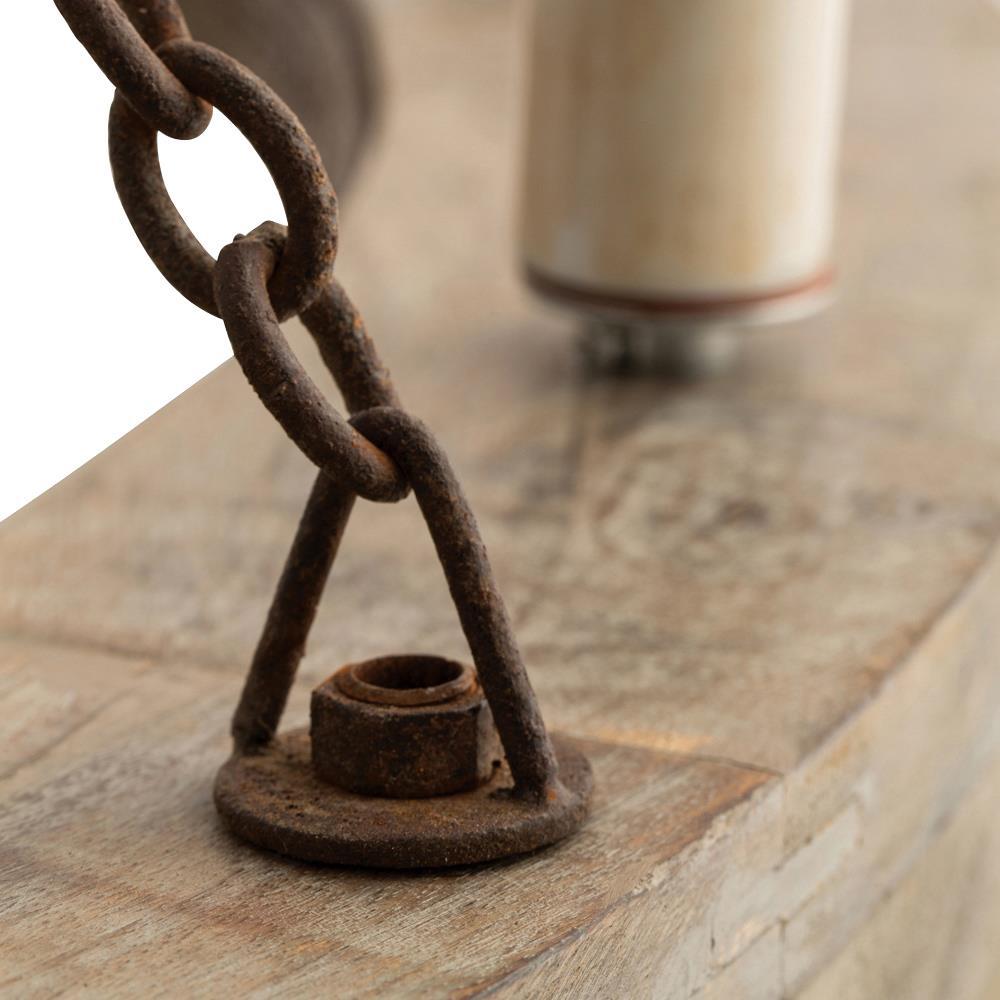 Arteriors Geoffrey Industrial Loft Rustic Wood Ring