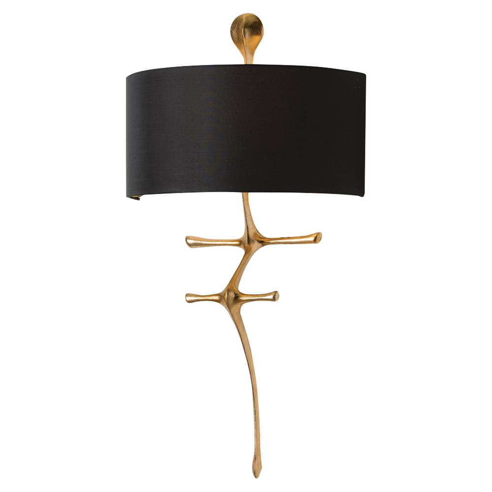 Brass Outdoor Wall Sconces : Eudora Brass Black Sculptural Outdoor Wall Sconce Kathy Kuo Home