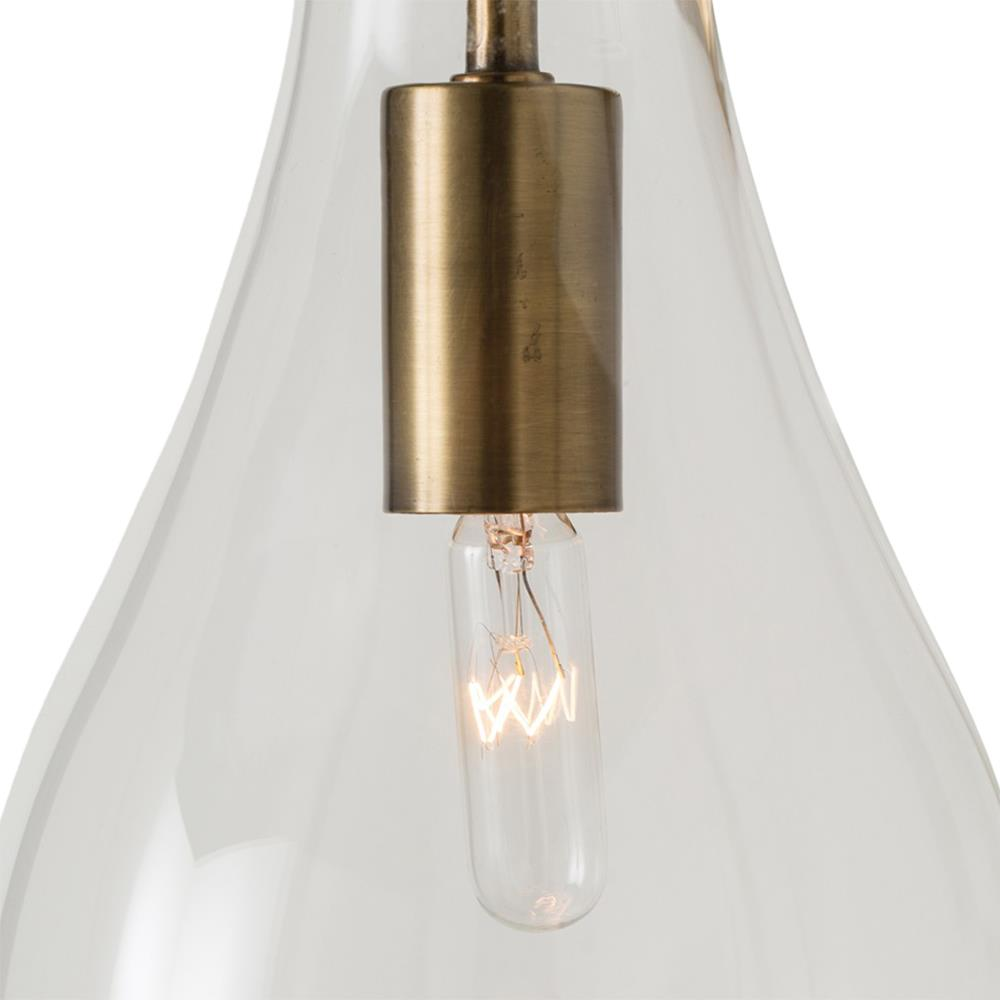 Arteriors Sabine Modern Brushed Brass Glass Drop Wall Sconce