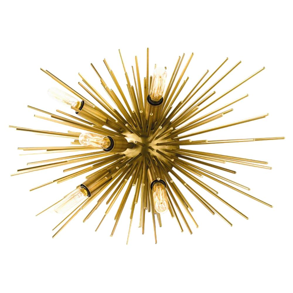 Zaza Modern Gold Burst Sputnik Wall Sconce Kathy Kuo Home