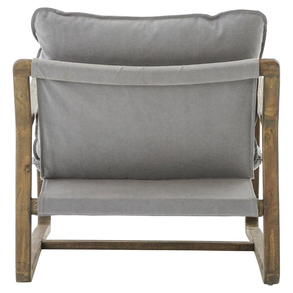 Merveilleux ... Antonia Rustic Lodge Grey Pillow Brown Wood Living Room Arm Chair |  Kathy Kuo Home ...