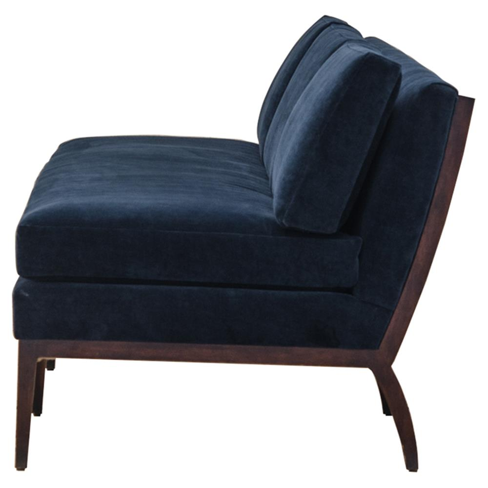 Reginald Hollywood Modern Navy Blue Armless Sofa Kathy Kuo Home