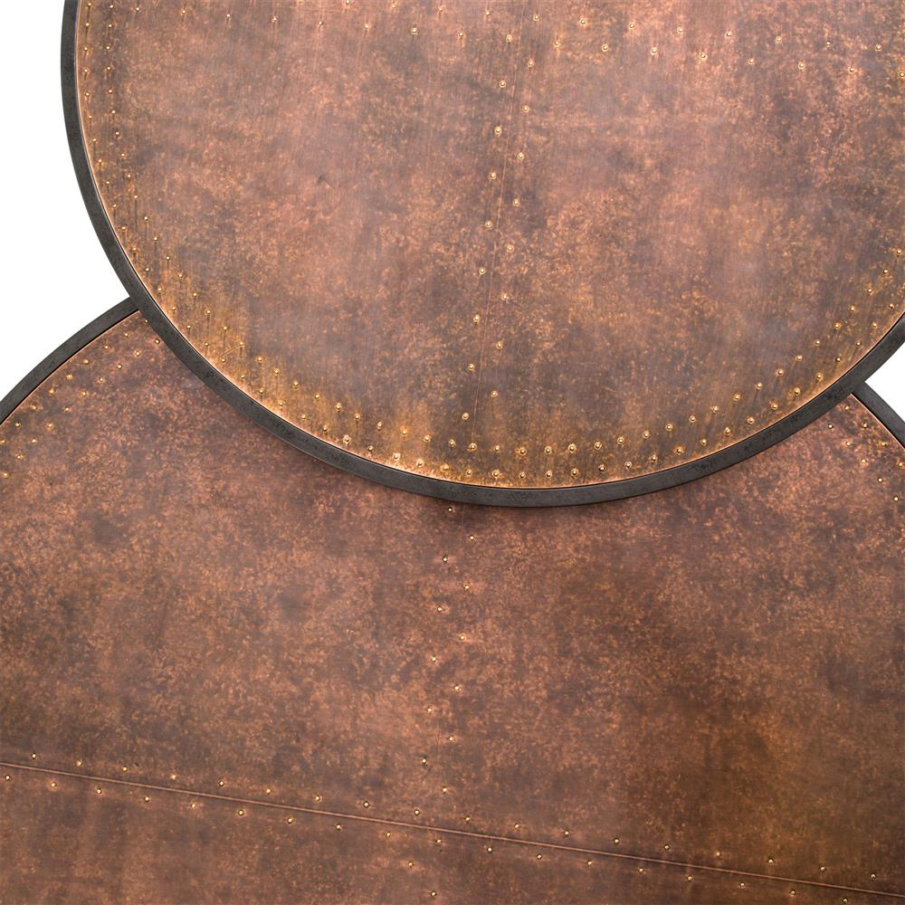 Ariel Industrial Loft Copper Studded Nesting Coffee Table