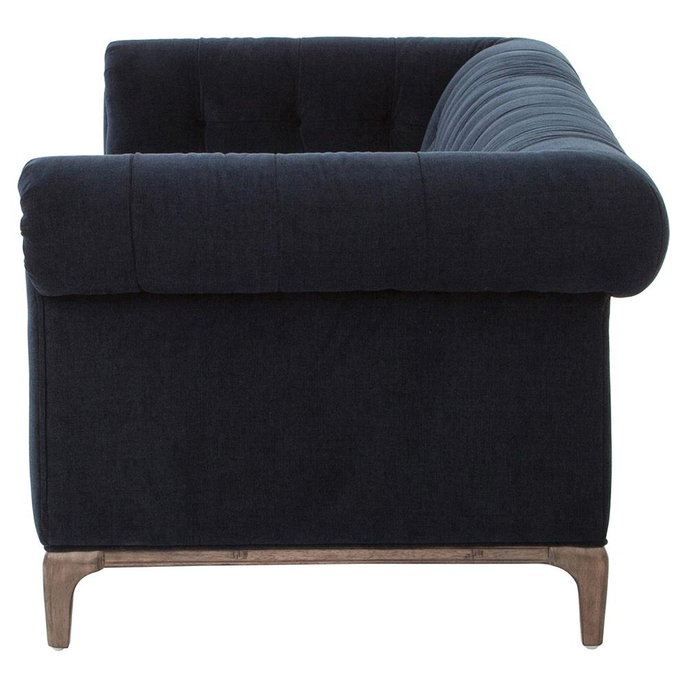 Navy tufted sofa inspiring blue tufted sofa with best for Navy blue tufted sectional sofa