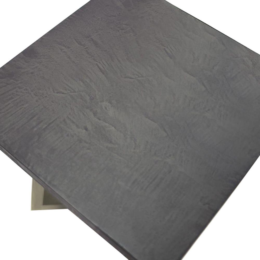 Bekah Industrial Rustic White Oak Cement End Table