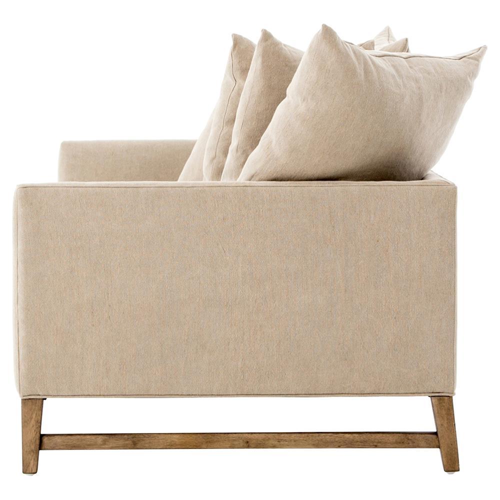 Loose Pillow Back Sofa: Gehry Modern Tan Loose Cushion Back Sofa