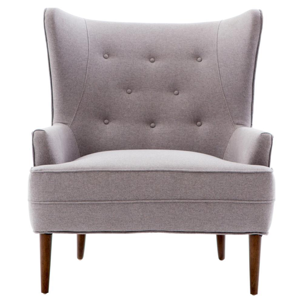 Zaha Modern Classic Heather Purple High Back Living Room Chair ...