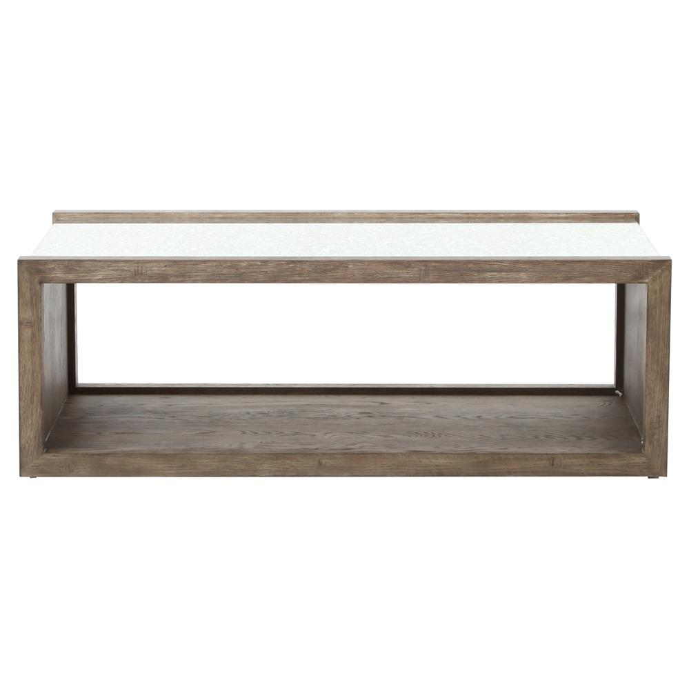 Antique Gray Coffee Tables: Philip Rustic Washed Grey Wood Antique Mirror Coffee Table
