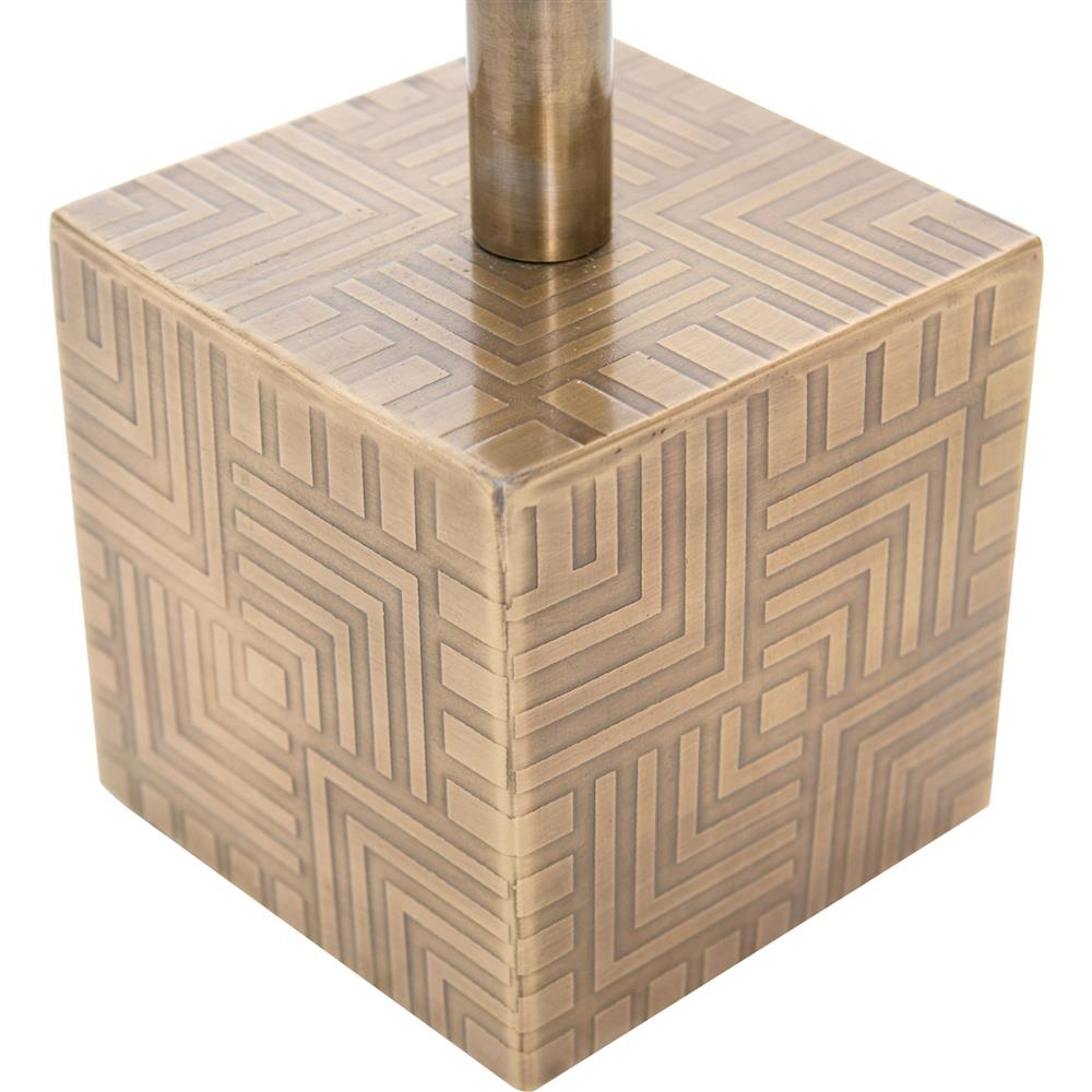 Hauer Industrial Gold Metal Cube Marble Adjustable Height