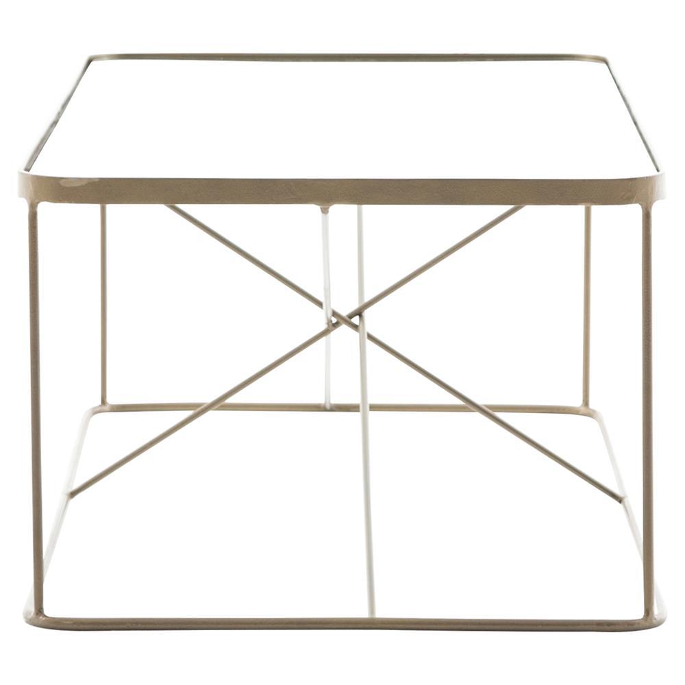 Jemma Modern Brass Cross Frame Coffee Table Kathy Kuo Home