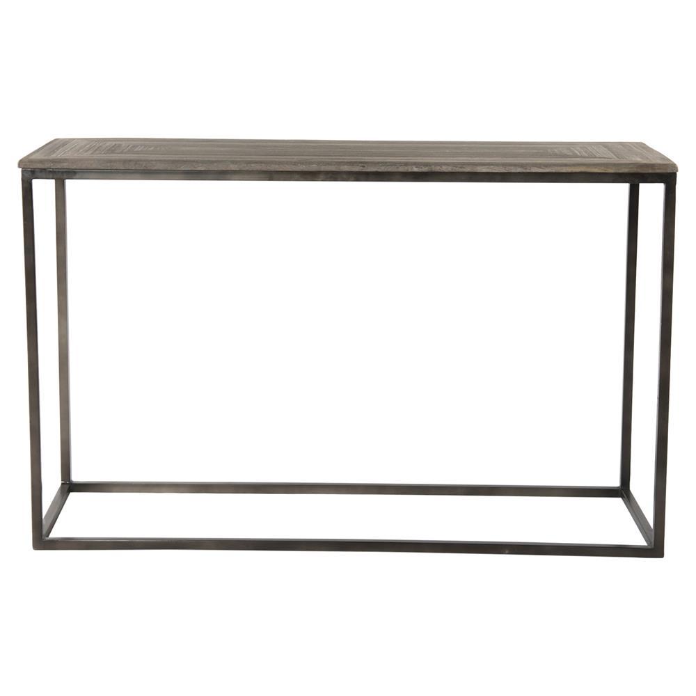 Elgar Industrial Lodge Metal Wood Console Table