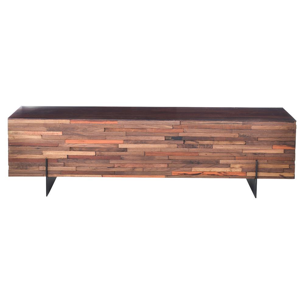Industrial Coffee Table Dark Wood: Givens Industrial Lodge Reclaimed Wood Black Steel