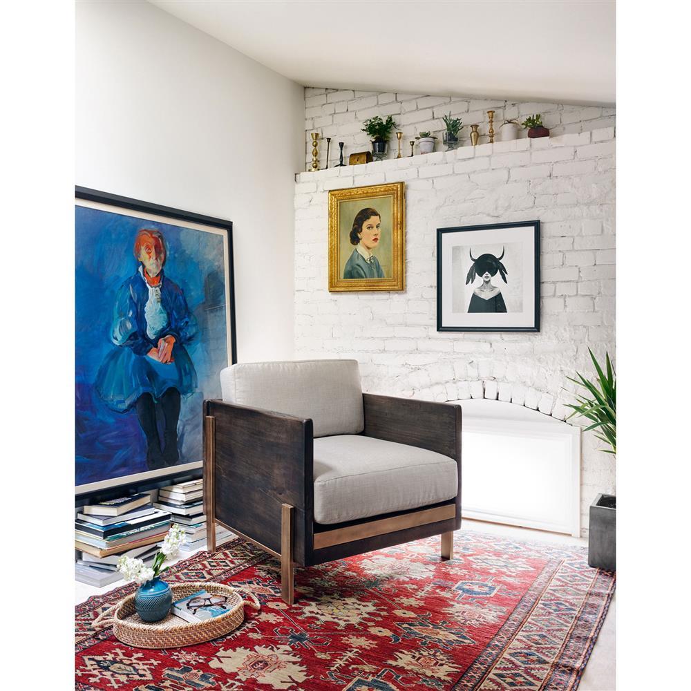 Siegfried Rustic Dark Brown Cracked Wood Living Room Chair | Kathy ...