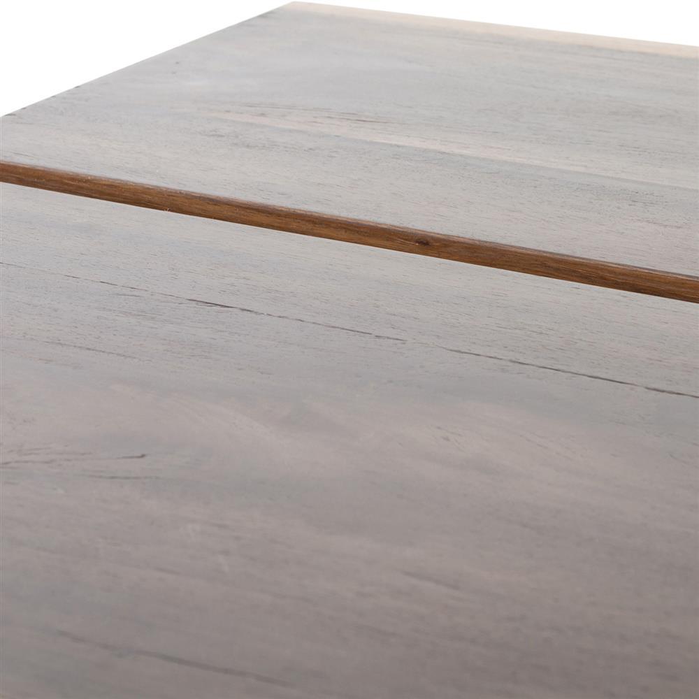 Rustic Brown Wood Coffee Table: Peppi Rustic Lodge Hollow Polished Brown Wood Coffee Table