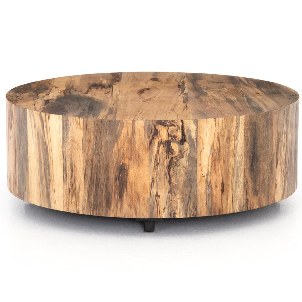 ... Wood Block Coffee Table | Kathy Kuo Home. view full size ... - Barthes Rustic Lodge Round Natural Wood Block Coffee Table Kathy