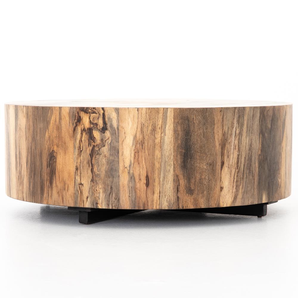 nice round wood block coffee table free