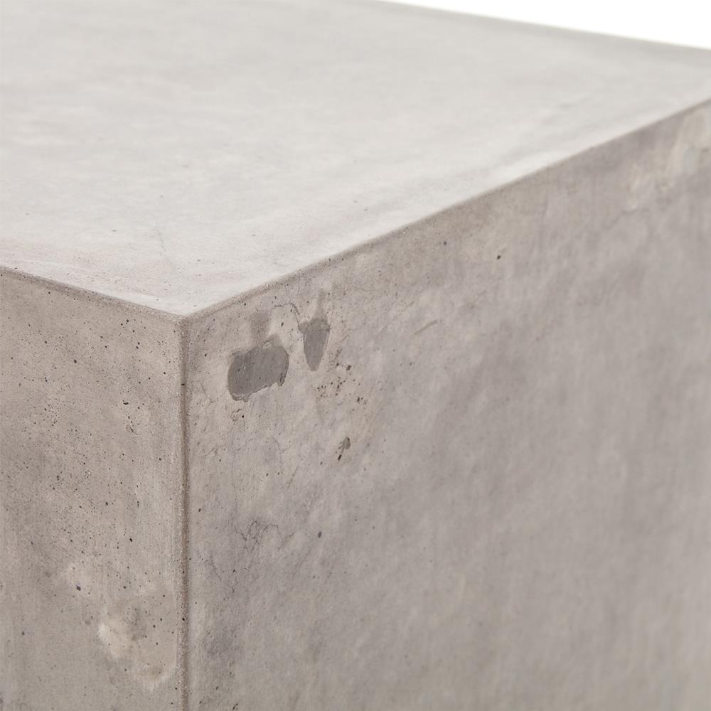 Hanz Industrial Loft Grey Block Concrete Side Table Kathy Kuo Home - Industrial concrete side table