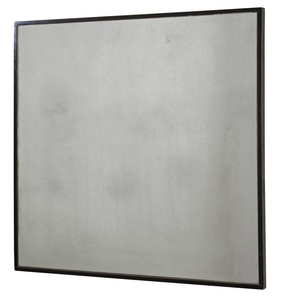 Tila modern industrial black block square mirror set of for Square mirror
