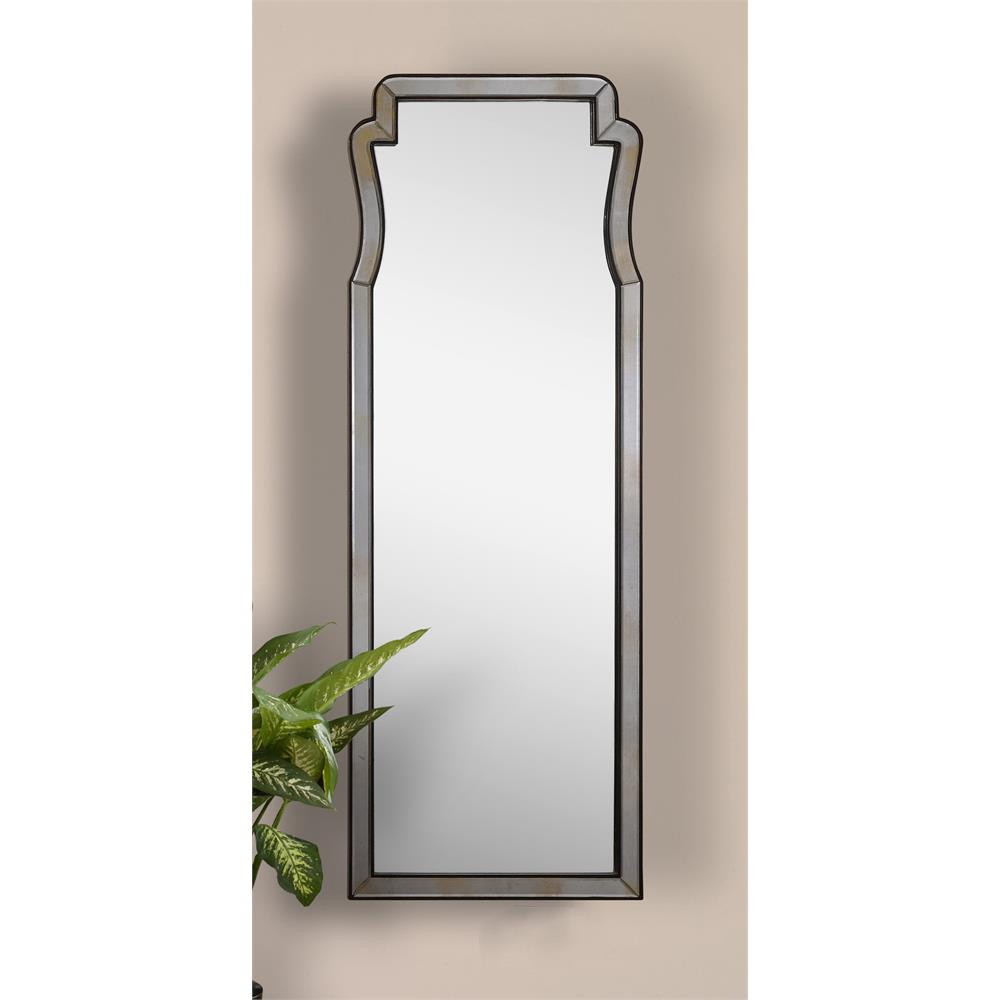 Herb french curved antique long dressing mirror kathy for Long antique mirror