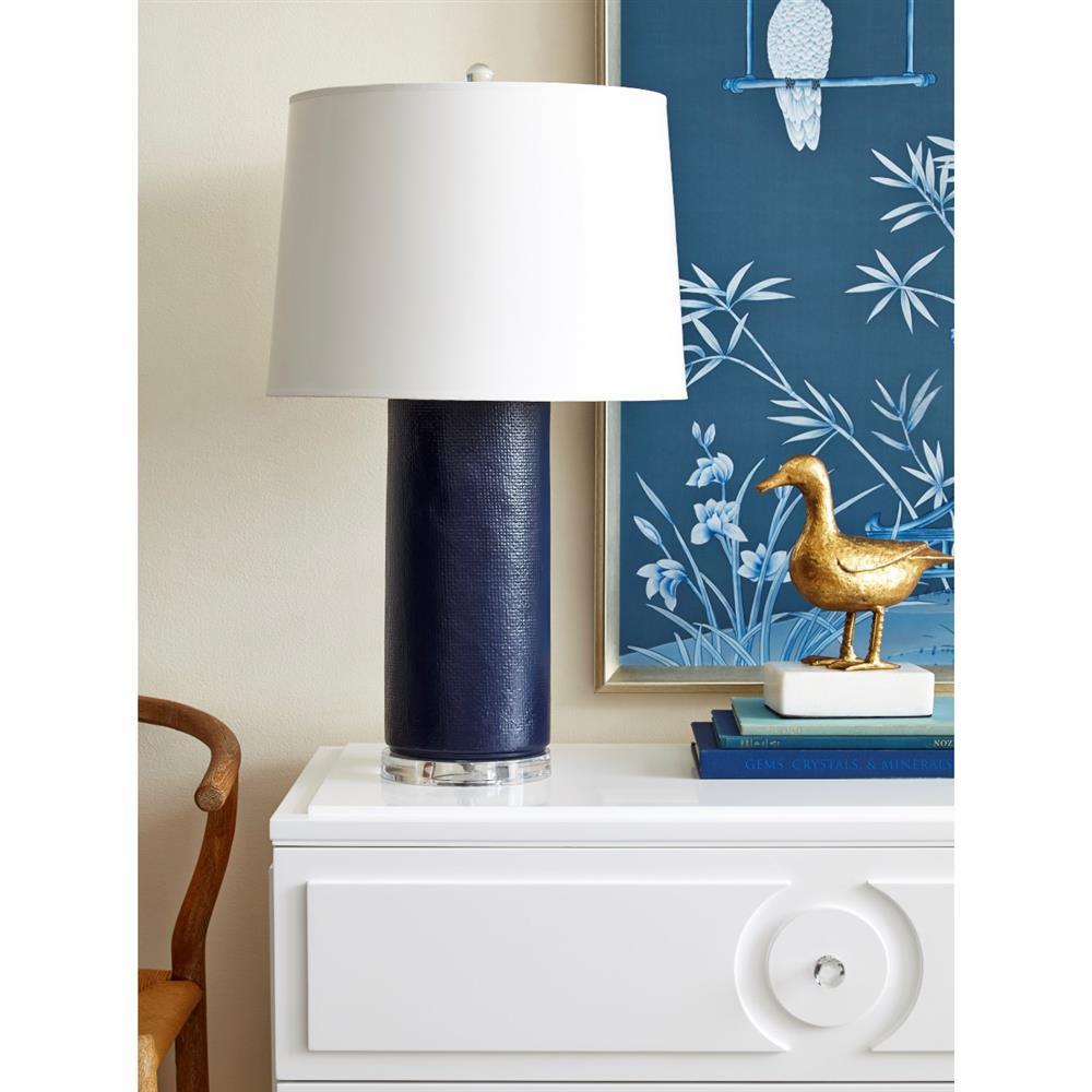 Jeffery Modern Textured Navy Blue Glazed Ceramic Paper