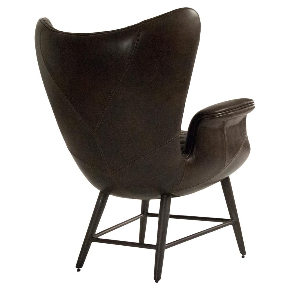 Volker Industrial Walnut Brown Leather Highback Living